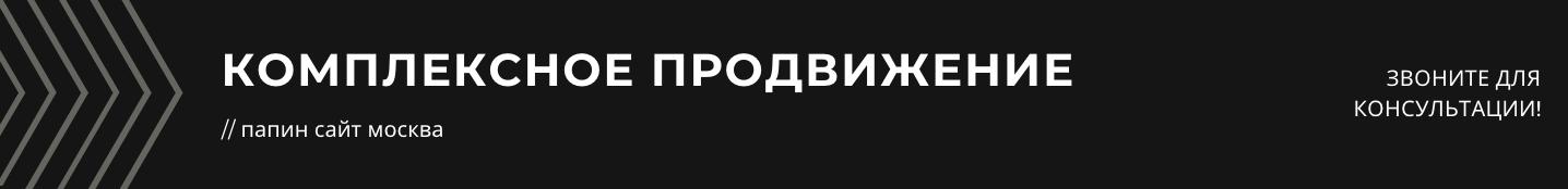 комплексное продвижение бизнеса в интернете москва студия папин сайт